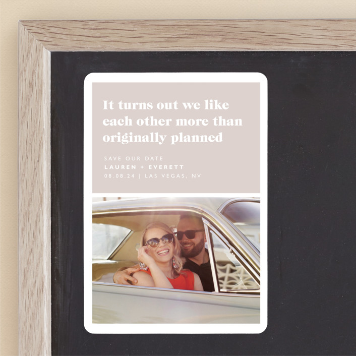 """""""Original Plan"""" - Funny Save The Date Magnets in Nude by Caitlin Considine."""