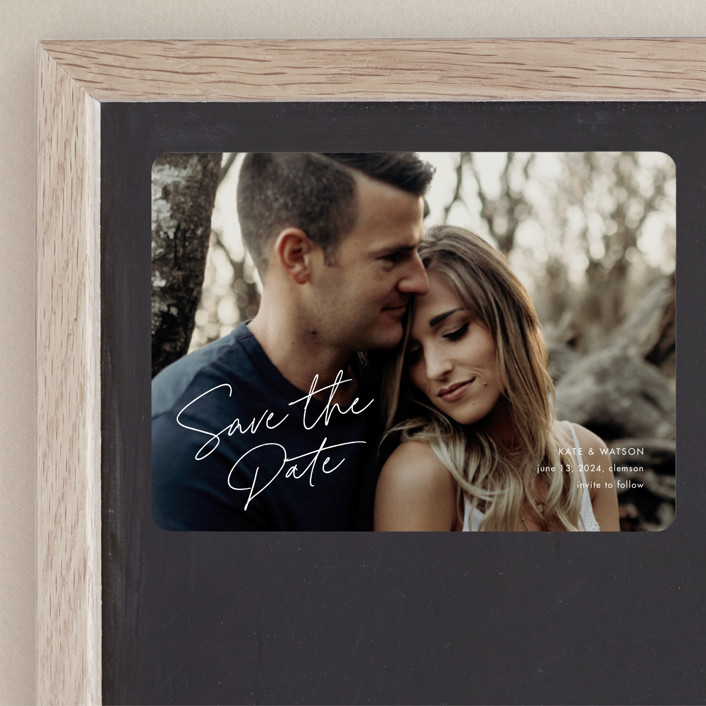 """""""Heartfelt"""" - Save The Date Magnets in Canvas by Stacey Meacham."""