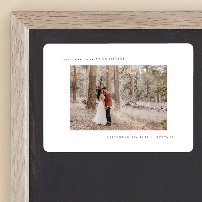 """""""True Minimalist"""" - Save The Date Magnets in Moon by Heather Cairl."""