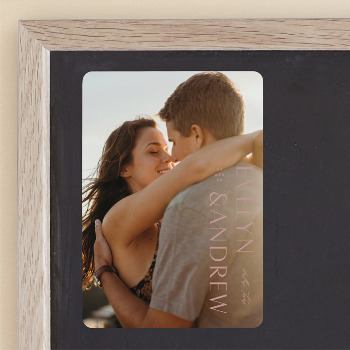 """""""Sideline"""" - Save The Date Magnets in Pure by Lauren Chism."""