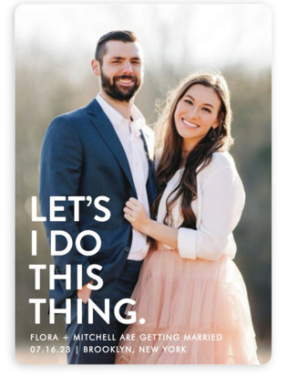 Let's I Do This Photo Save the Date Magnets