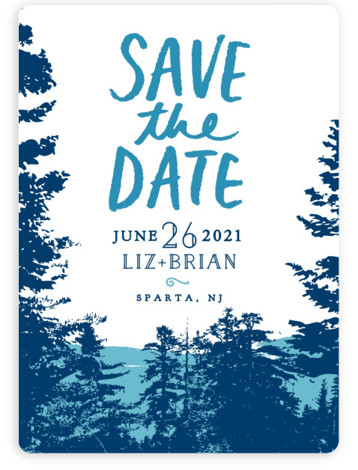 This is a portrait botanical, blue Save the Dates by Ariel Rutland called Mountain View with Standard printing on Magnet Paper in Magnet Flat Card format. Our most popular Save the Date designs are now available as beautiful, high quality ...