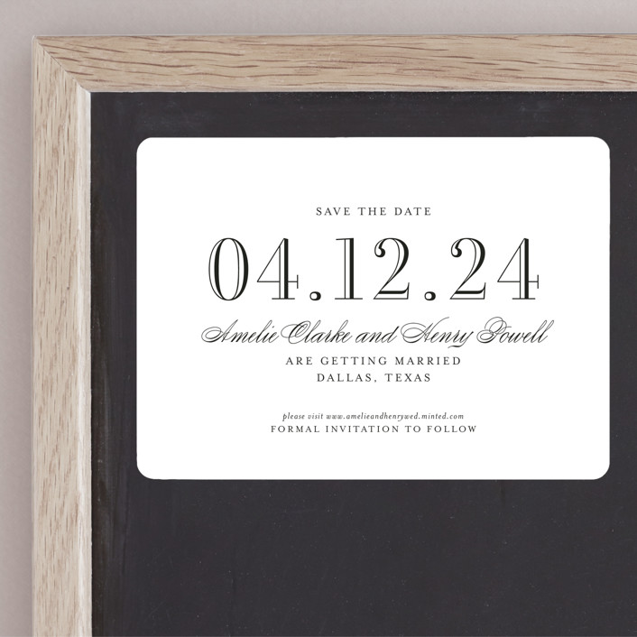 """Hepburn"" - Save The Date Magnets in Rose by Toast & Laurel."