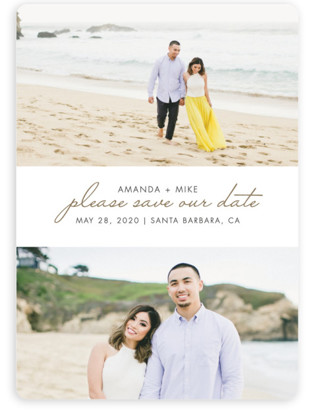 photo of Gilded Landscapes Save The Date Magnets