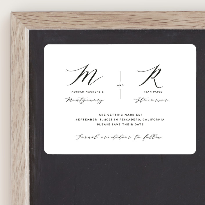 """""""Elegant Monogram"""" - Save The Date Magnets in Berry by Simona Camp."""