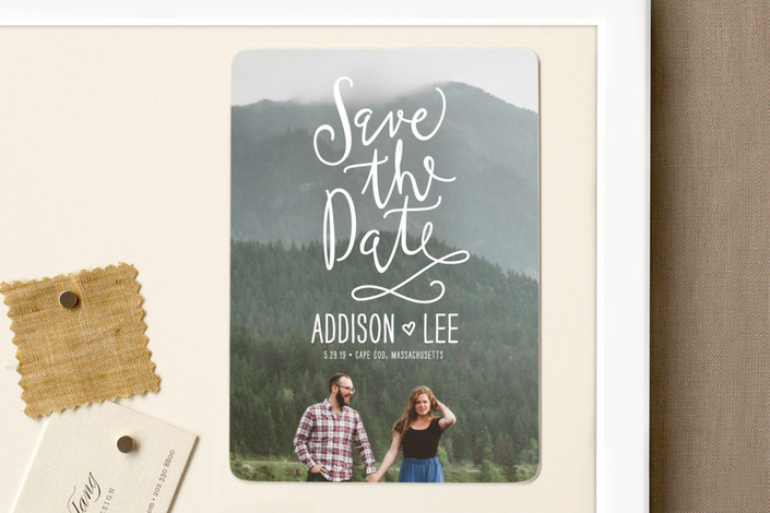 """""""Skywriting Love"""" - Bohemian Save The Date Magnets in Natural by Ariel Rutland."""