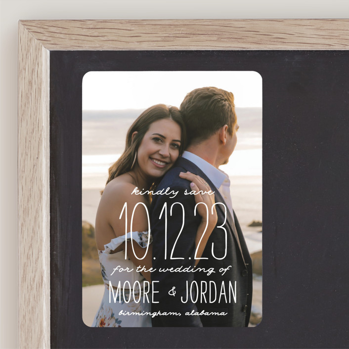 """""""Earthy"""" - Bohemian Save The Date Magnets in Pearl by Owl and Toad."""
