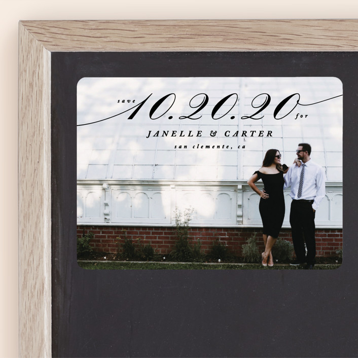 """""""Sway"""" - Save The Date Magnets in Noir by Owl and Toad."""
