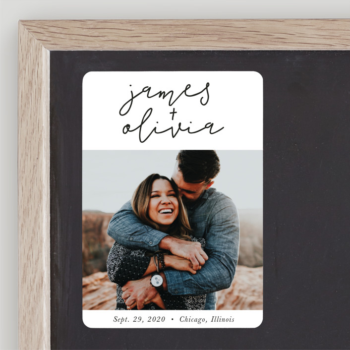 """Modern Love"" - Save The Date Magnets in Tuxedo by Christine Taylor."