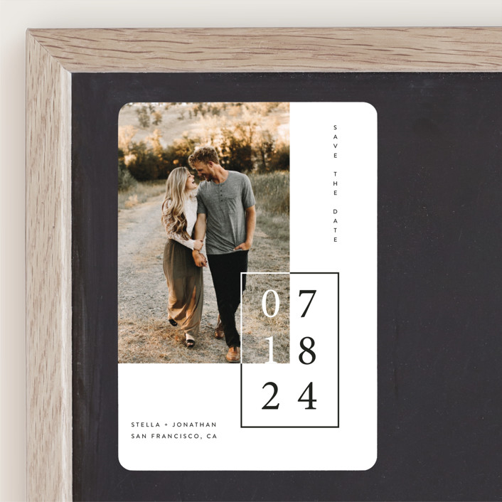 """""""Folio"""" - Save The Date Magnets in Noir by lulu and isabelle."""