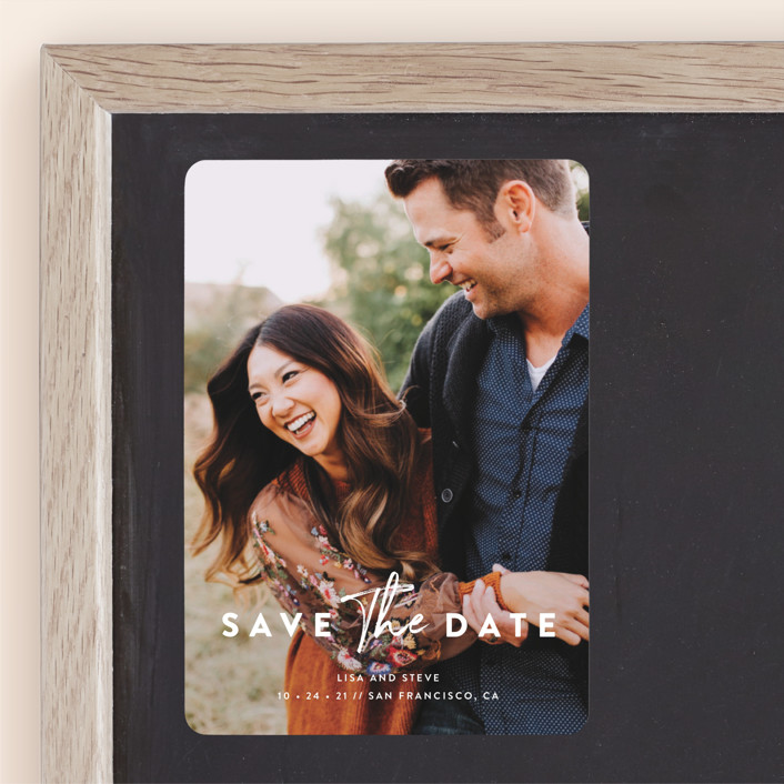 """""""Modern Classic"""" - Save The Date Magnets in Porcelain by Chryssi Tsoupanarias."""