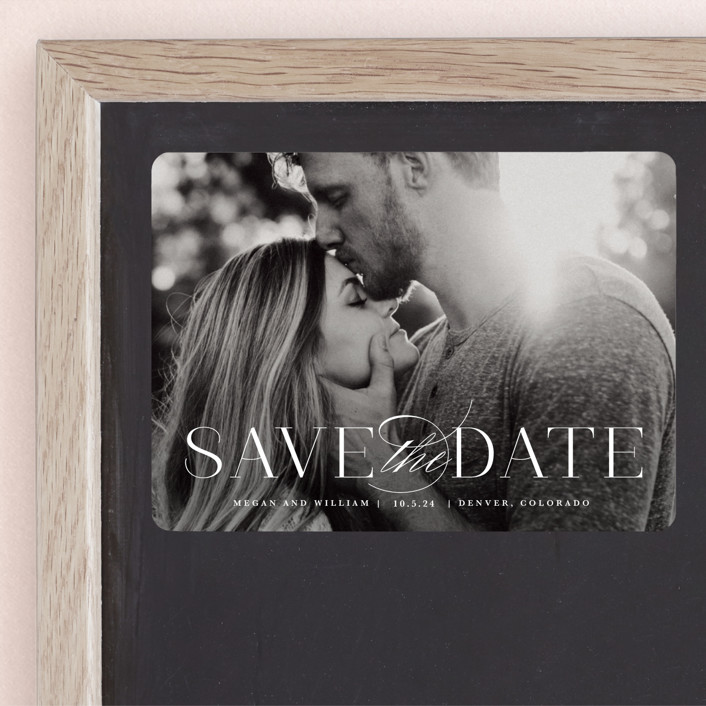 """Ultimate"" - Save The Date Magnets in Cotton by Lauren Chism."