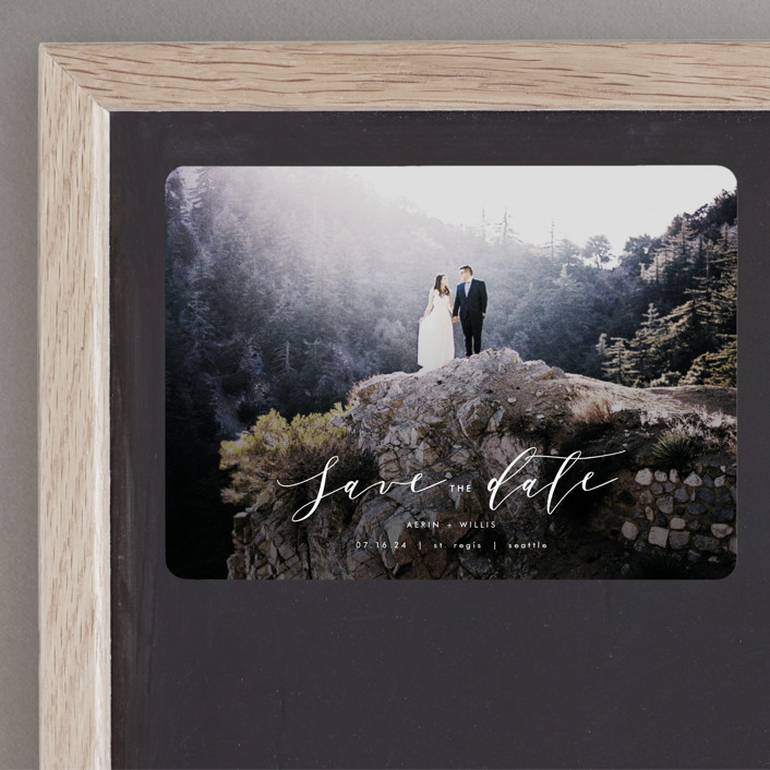 """Ever After"" - Save The Date Magnets in Cotton by AK Graphics."