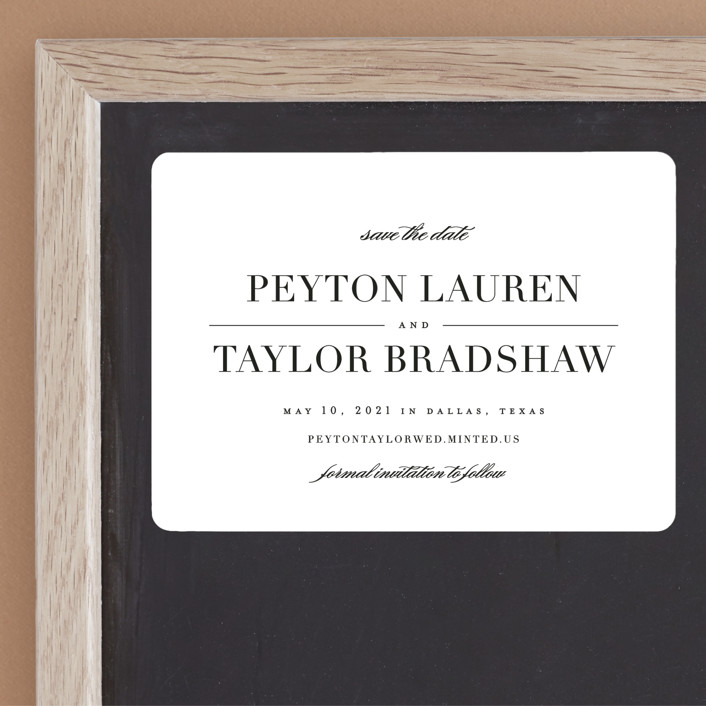 """""""Classic"""" - Save The Date Magnets in Tuxedo by Lauren Chism."""