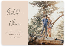 This is a pink save the date magnet by Morgan Kendall called Modern Love with standard printing on magnet paper in magnet.