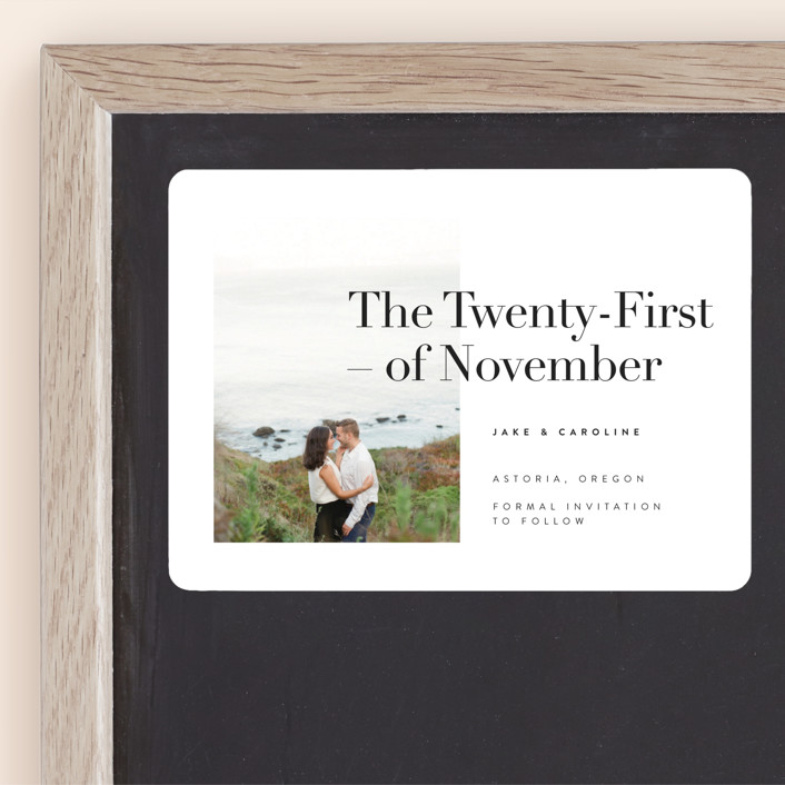 """Frankie"" - Save The Date Magnets in Ink by Karen Schipper."
