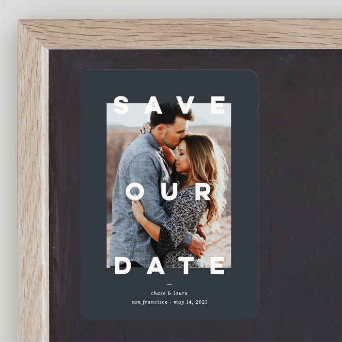 modern billboard save the date magnets by blustery august