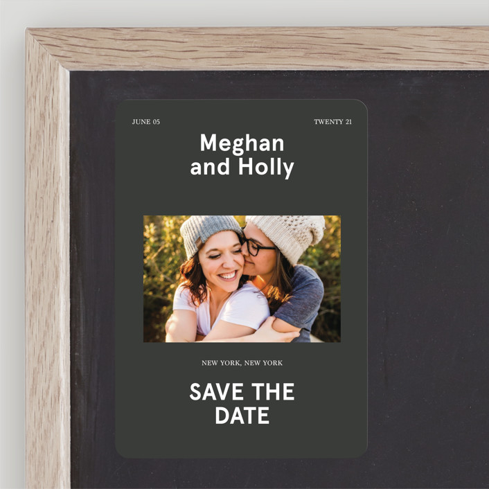 """""""Booklet"""" - Save The Date Magnets in Fern by Jack Knoebber."""