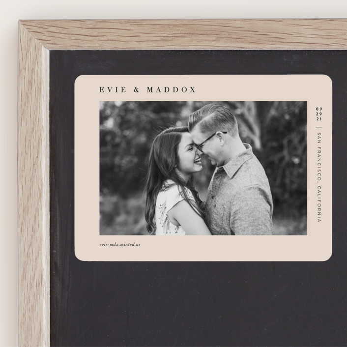 """""""Darling"""" - Minimalist, Simple Save The Date Magnets in Blush by Pine and Lark."""