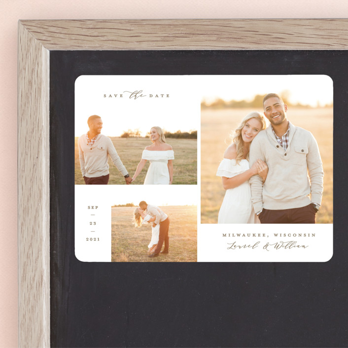 """Favorites Gallery"" - Save The Date Magnets in Taupe by Michelle Taylor."