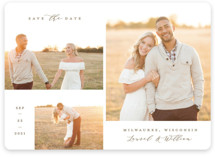 This is a brown save the date magnet by Michelle Taylor called Favorites Gallery with standard printing on magnet paper in magnet.