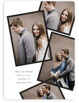 This is a black save the date magnet by Baumbirdy called modern day with standard printing on magnet paper in magnet.