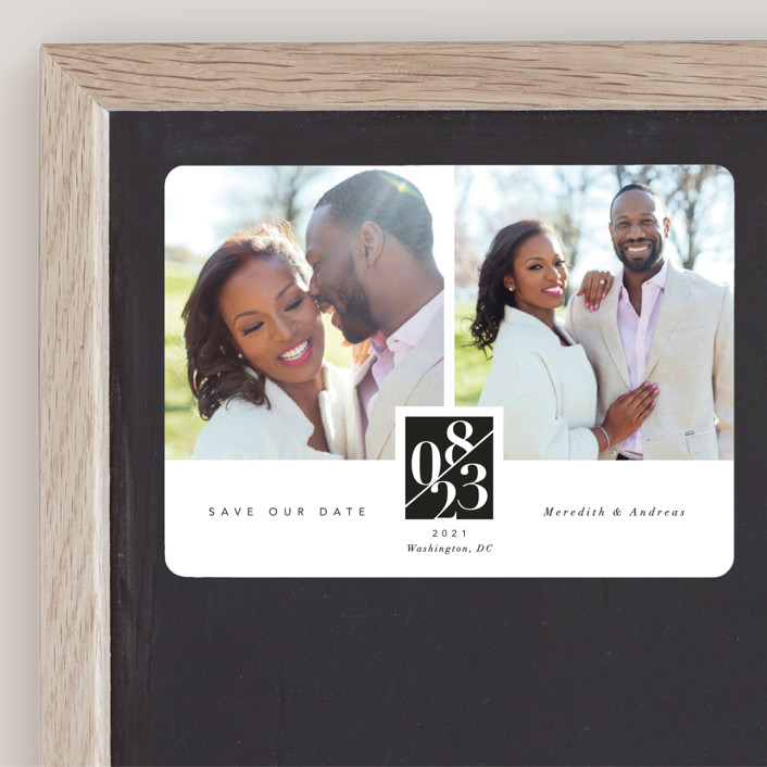 """""""classic love story"""" - Save The Date Magnets in Tuxedo by Susanne Kasielke."""