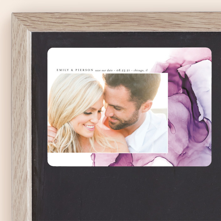 """""""dreamy watercolors"""" - Modern Save The Date Magnets in Lavender by Erin Deegan."""
