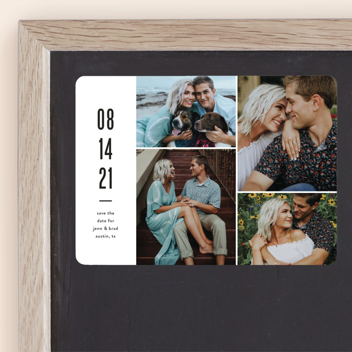 """Modern Grid"" - Save The Date Magnets in fog by Jessica Ogden."