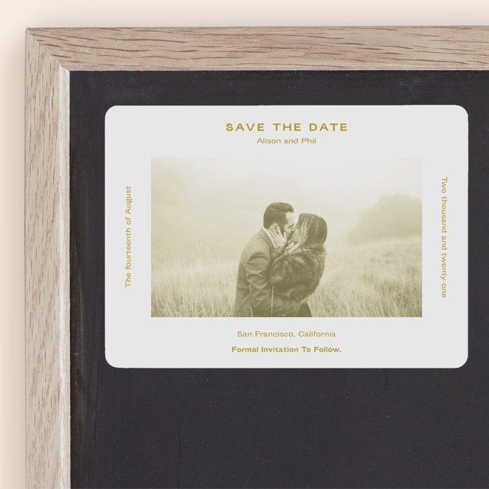 """Flyer"" - Save The Date Magnets in Navy by Jack Knoebber."
