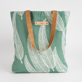 This is a green snap tote by Katharine Watson called Sketched Willow.