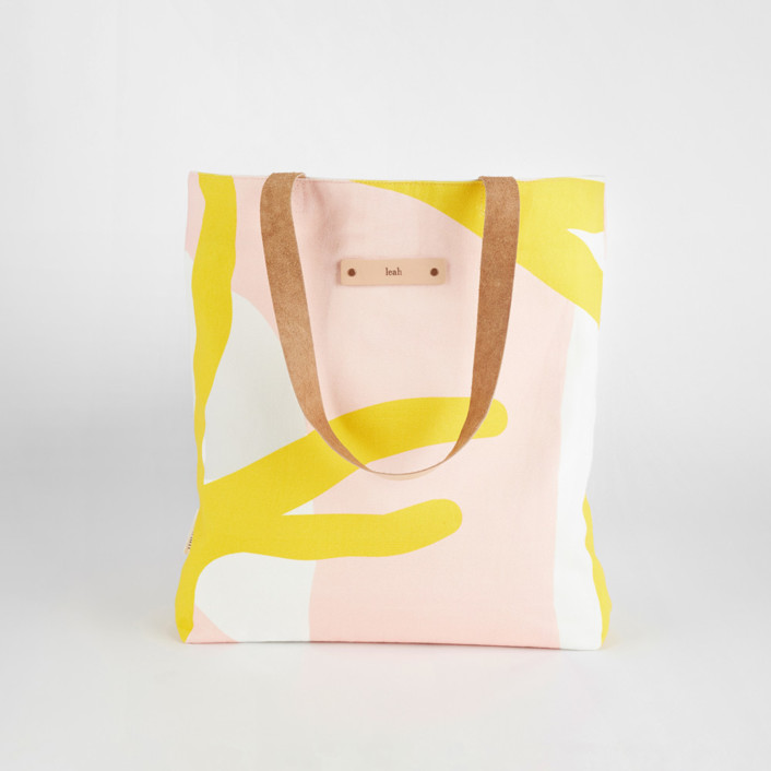 Yellow Branches Snap Tote