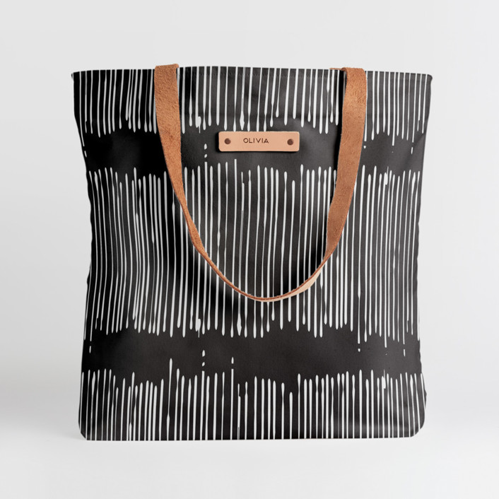 Matchstick Black Snap Tote, $30