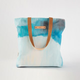 This is a blue snap tote by Alison Jerry Designs called Waterfall.