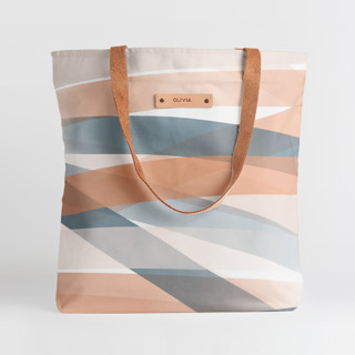This is a blue snap tote by Stephanie C Martinez called Pastel Beach.