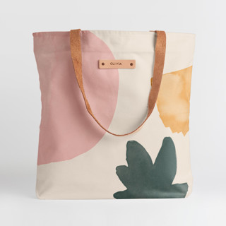 This is a pink snap tote by Creo Study called Foodie.