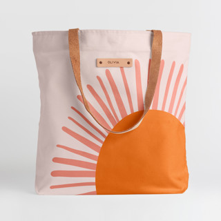 This is a orange snap tote by Pippa Shaw called Great Day.
