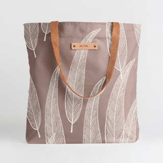 This is a purple snap tote by Katharine Watson called Sketched Willow in standard.