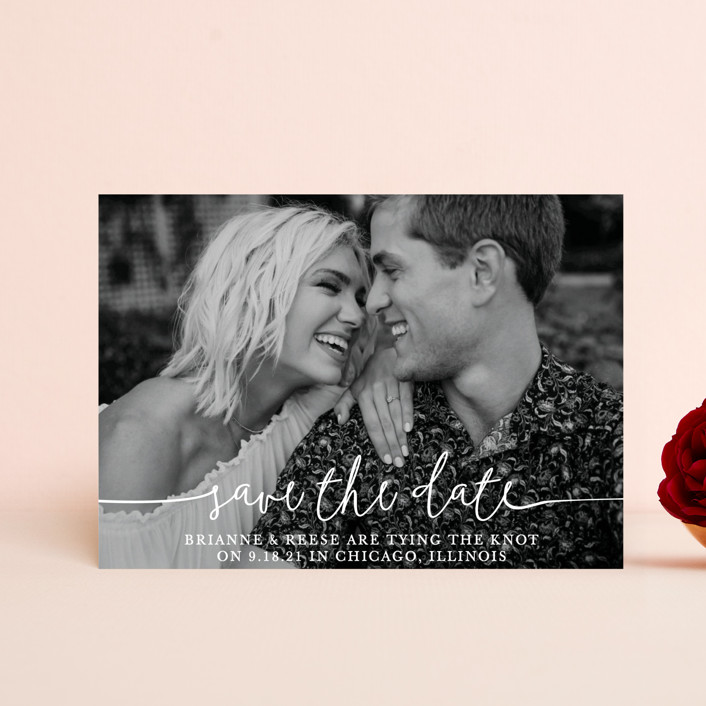 """""""Boho Love"""" - Save The Date Postcards in Lily by Christine Taylor."""