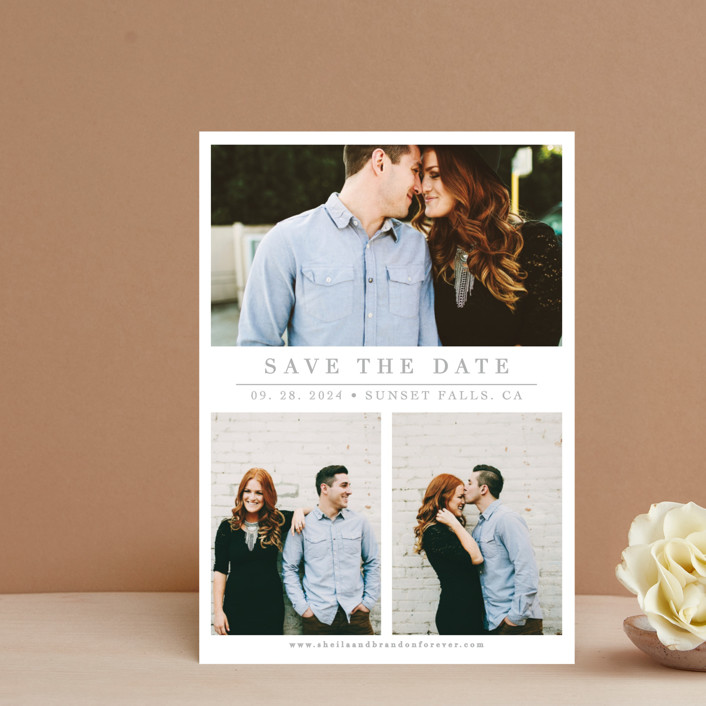 """The Simple Things"" - Save The Date Postcards in Cement by Giselle Zimmerman."