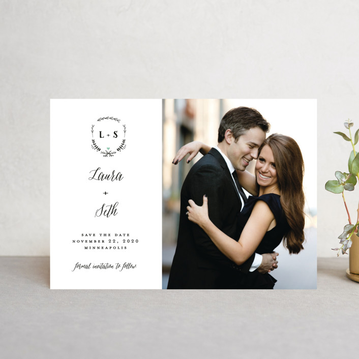 """Always"" - Save The Date Postcards in Mint by Susan Brown."