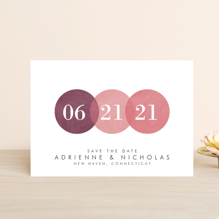 """""""Simply in Love"""" - Save The Date Postcards in Rain by Amanda Sager."""