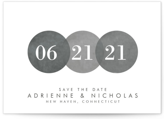 This is a landscape painterly, grey Save the Dates by Amanda Sager called Simply in Love with Standard printing on Signature in Postcard Flat Card format. This simple yet elegant design makes that special day stand out.