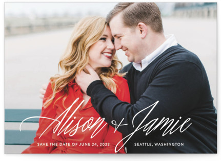 All In The Names Save the Date Postcards
