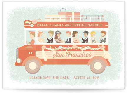 Destination Wedding Save the Date Postcards