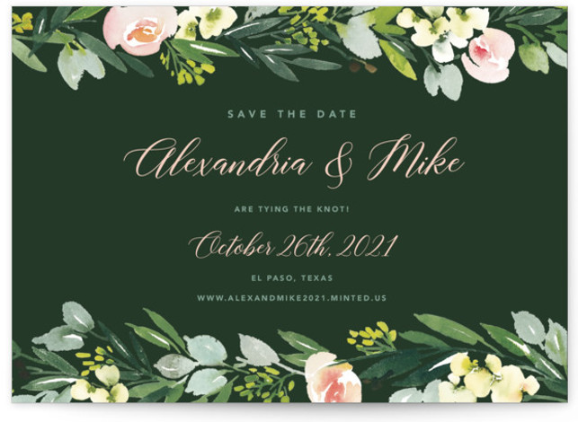 This is a botanical, floral, green Save the Dates by Yao Cheng Design called Eucalyptus Wreath with Standard printing on Signature in Postcard Flat Card format. Painted in a soft watercolor hand, this eucalyptus wreath is elegant and modern. Its ...