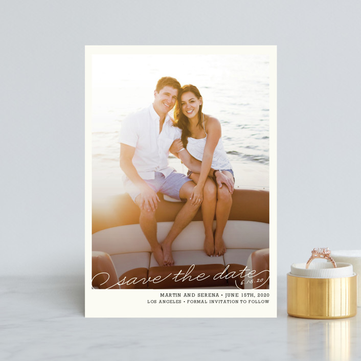 """Vintage Photograph"" - Save The Date Postcards in Pearl by annie clark."