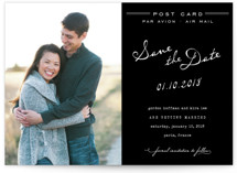 Airmail Save The Date Postcards