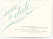 Winter Flourish Save The Date Postcards