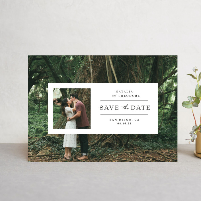 """""""Window"""" - Save The Date Postcards in Lily by Danie Romrell."""